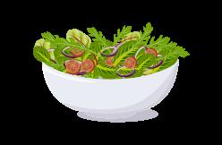 salades composées et crudités